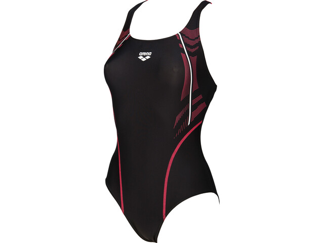 arena Energy Swim-Pro One Piece Swimsuit Damen black-fluo red
